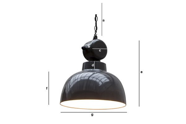 Product Dimensions Retronom industrial hanging light