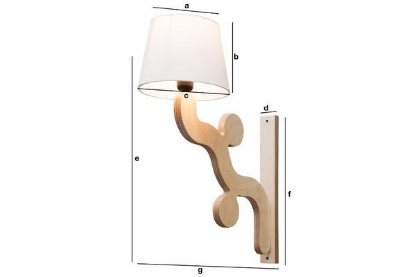 Product Dimensions Rholl wall lamp