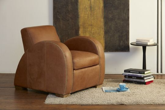 Rockefeller Camel club armchair