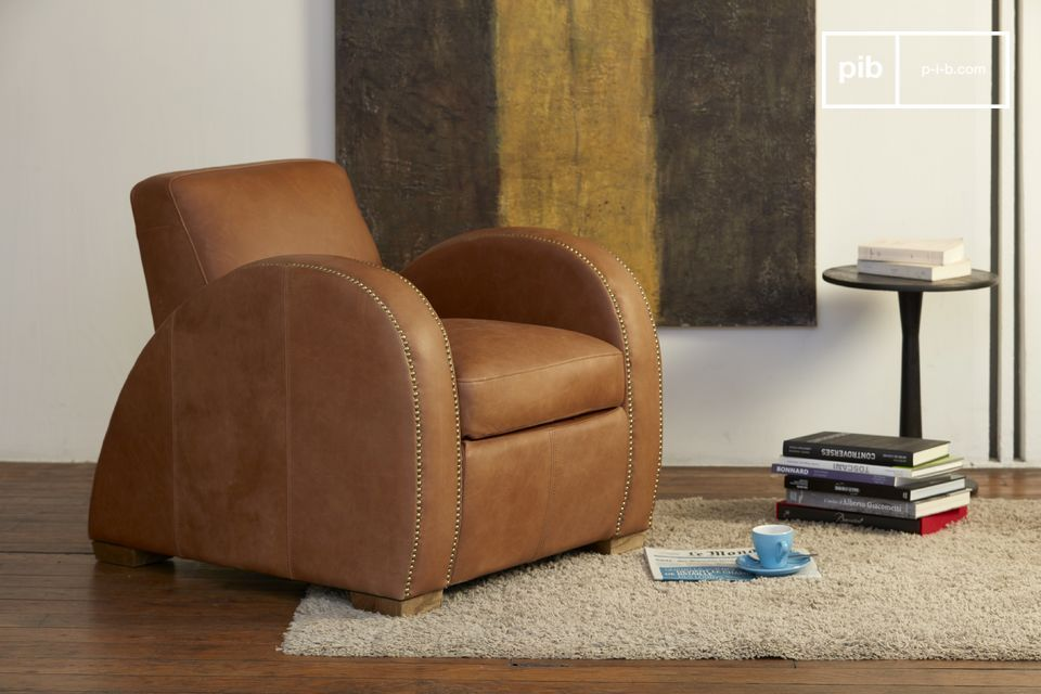 An armchair with an absolutely atypical design, both a seat and a decorative asset.
