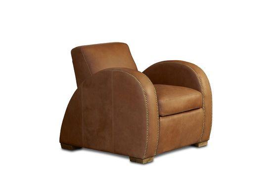 Rockefeller Camel club armchair Clipped