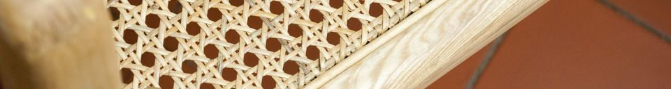 Material Details Rocking chair of cane Akse