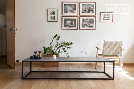 Rothmann leather coffee table