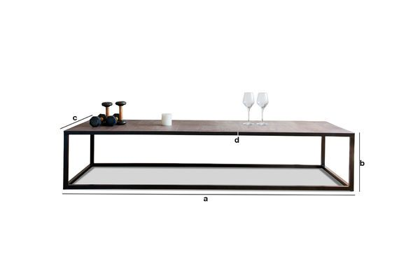 Product Dimensions Rothmann leather coffee table