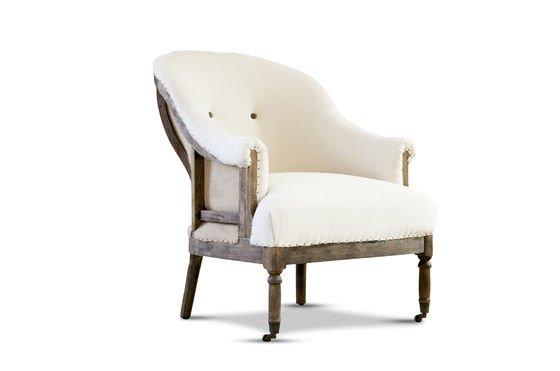 Round armchair Léonie Clipped