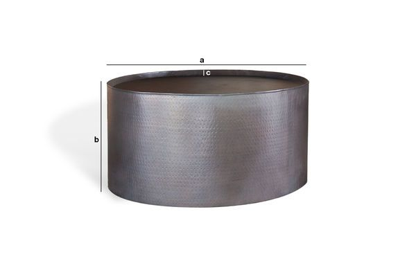 Product Dimensions Round coffee table Subolo