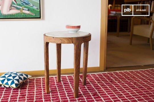 Round side table Marmori