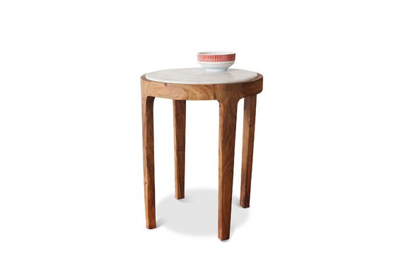Round side table Marmori Clipped