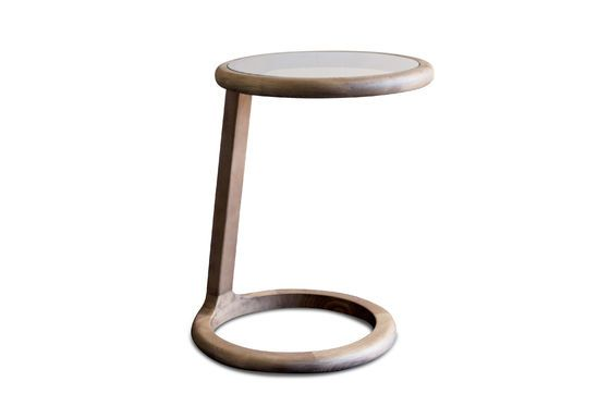 Round sofa side table Donhill Clipped