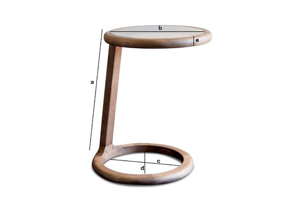 Product Dimensions Round sofa side table Donhill