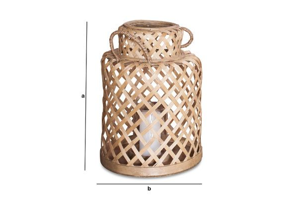 Product Dimensions Saïgon Bamboo Lantern