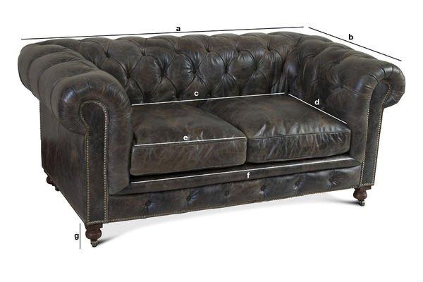 Saint James Chesterfield sofa Vintage leather finish pib