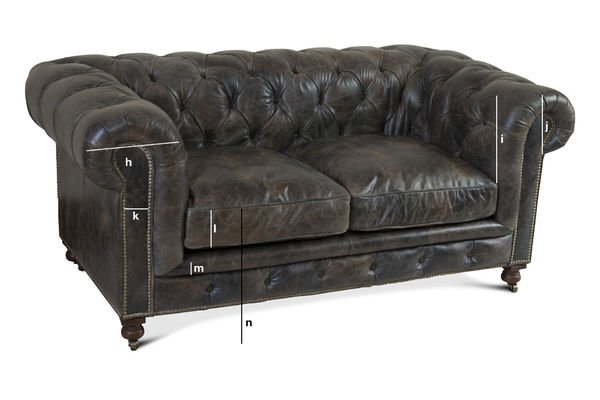 Product Dimensions Saint James Chesterfield sofa