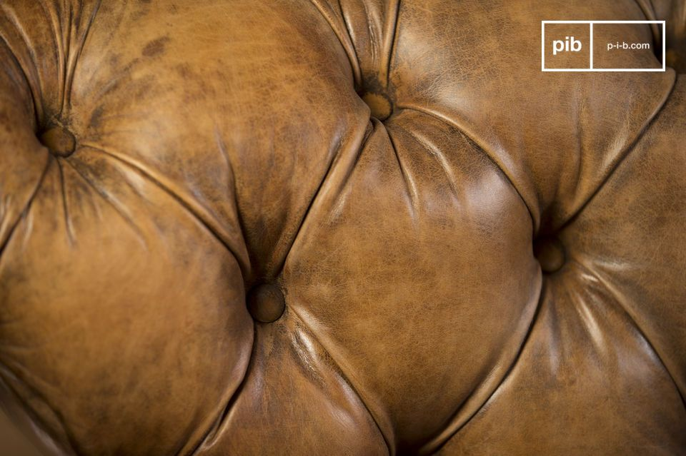 An exceptional vintage leather sofa