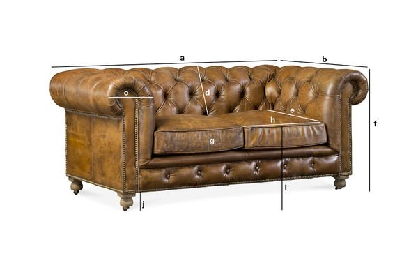 Product Dimensions Saint Paul Chesterfield Sofa