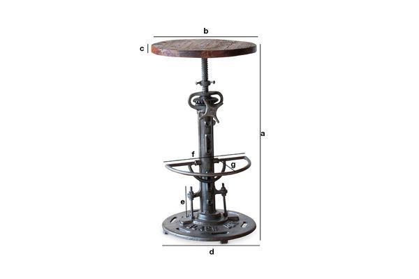 Product Dimensions Salvage high teak adjustable stool