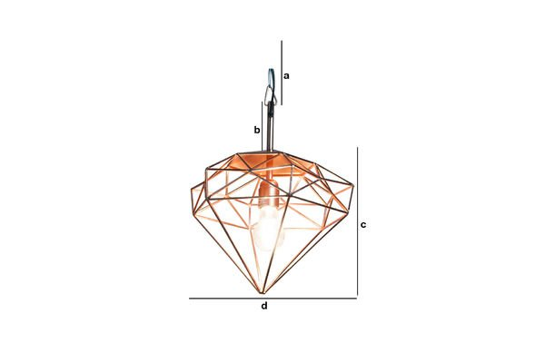 Product Dimensions Sancy hanging lamp