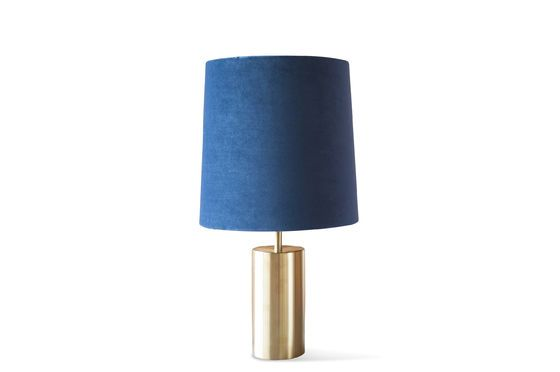 Sarhita velvet lamp and lampshade Clipped