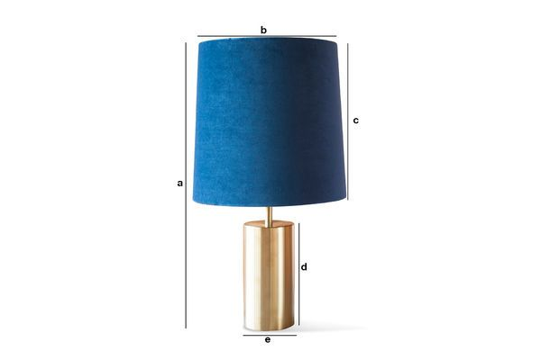 Product Dimensions Sarhita velvet lamp and lampshade