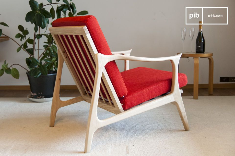 Scandinavian Armchair Aarhus Beautiful Light Wood Finish Pib