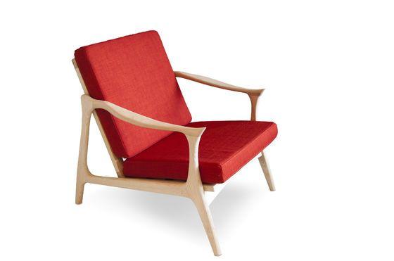 Scandinavian armchair Aarhus Clipped