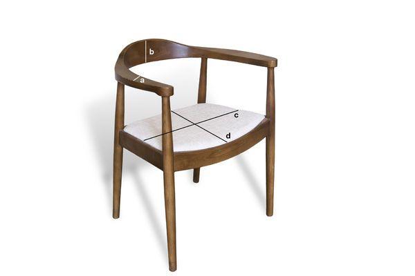 Product Dimensions Scandinavian Armchair Johannes