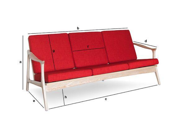 Product Dimensions Scandinavian bench Aarhus