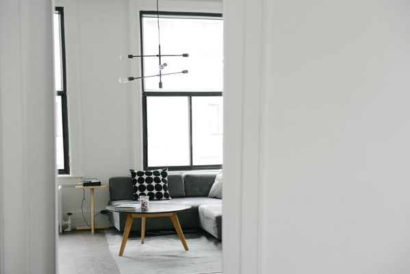 scandinavian living room setting