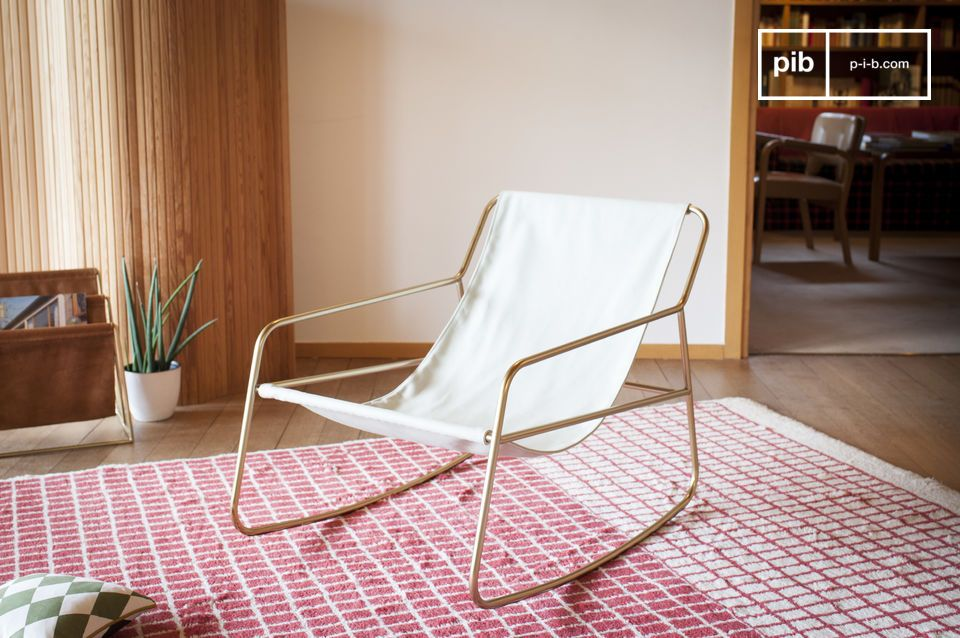 The elegance of a Scandinavian rocking chair with mixed inspirations