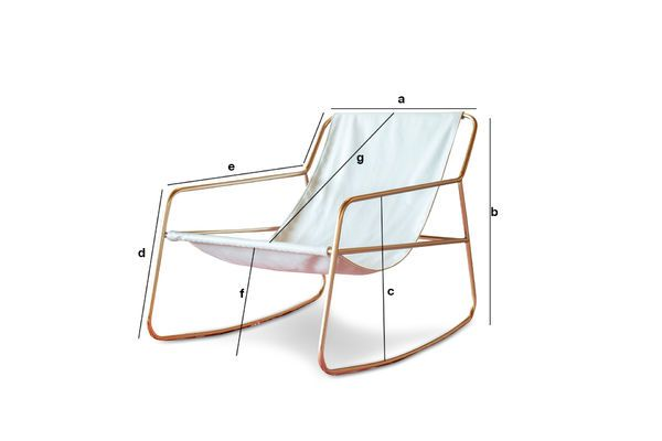 Product Dimensions Scandinavian rocking chair Lund