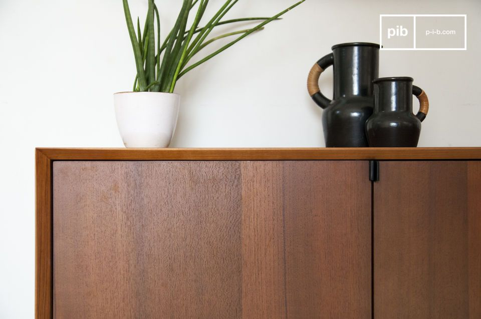 Beautiful 4-door teak wood sideboard in post-war design style