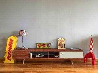 scandinavian tv bench PIB