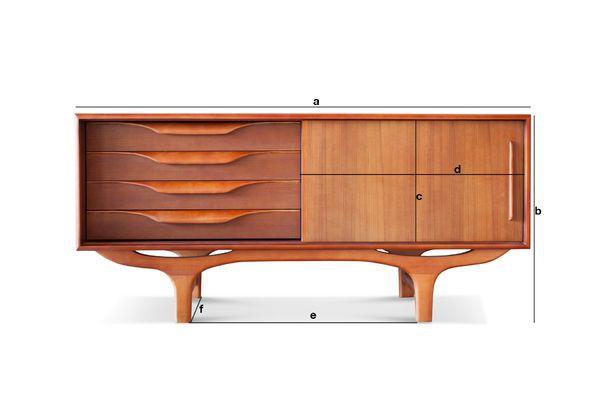 Product Dimensions Scandinavian wooden Buffet Alrik