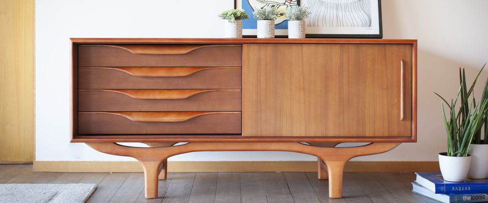 Scandinavian wooden Buffet Alrik