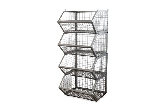 Set of 4 Kurt stackable storage baskets Clipped