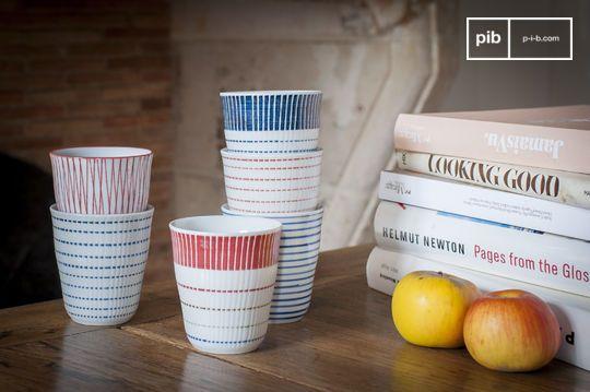 Set of 6 porcelain cups Grite