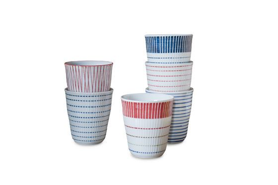 Set of 6 porcelain cups Grite Clipped