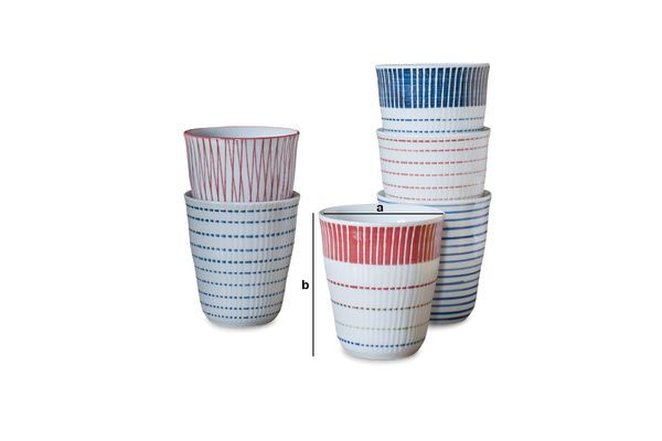 Product Dimensions Set of 6 porcelain cups Grite