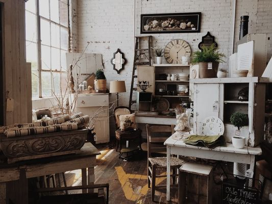 shabby chic interior and antique flair