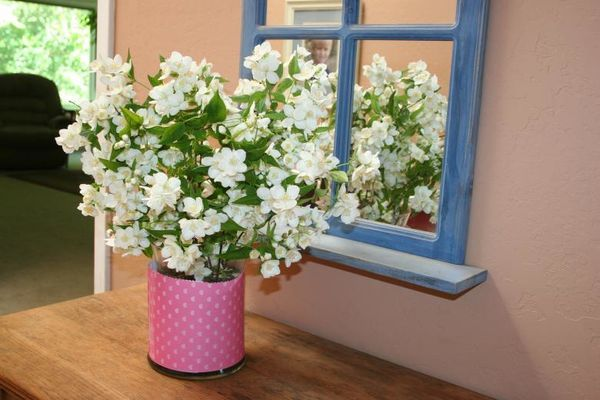 shabby chic style with flowers