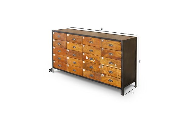 Product Dimensions Shawinigan Vintage counter