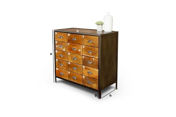 Product Dimensions Shawinigan Wooden chest of drawers