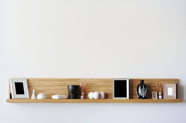 shelf with frames