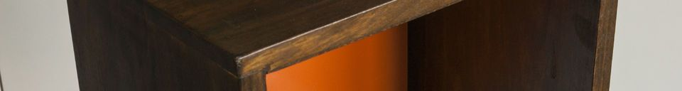 Material Details Shelf Yumi orange
