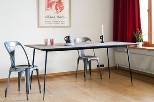 Sherman natural wood dining table