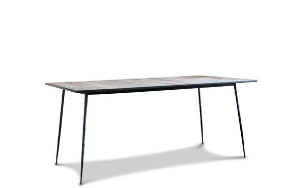 Sherman natural wood dining table Clipped