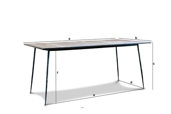 Product Dimensions Sherman natural wood dining table