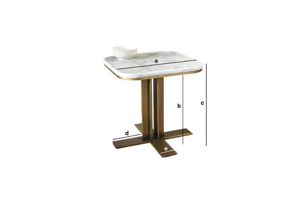 Product Dimensions Side table Carrera