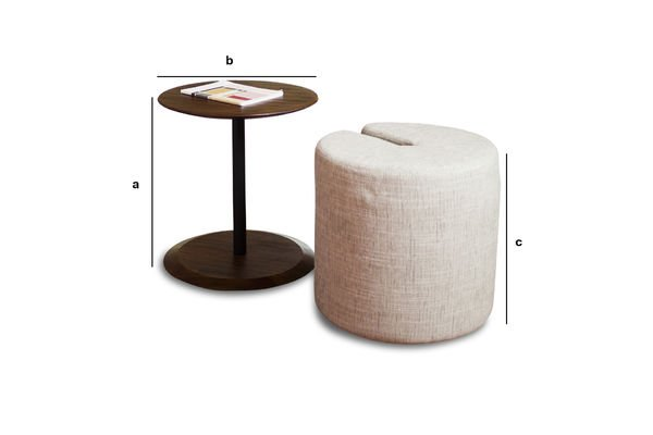 Product Dimensions Side table Victor