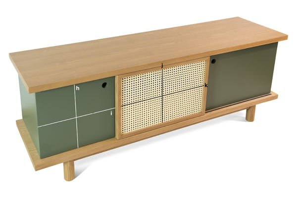 Product Dimensions Sideboard Tammea made out of oak wood